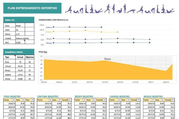 Plantilla Excel entrenamiento personal