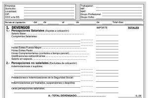 Plantilla Excel nómina 2020