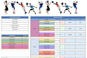 Plantilla Excel torneo de padel