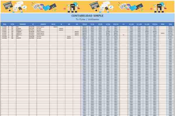 plantilla excel de contabilidad simple para autónomos y pequeñas empresas